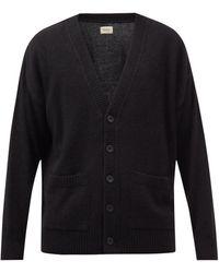 Nudie Jeans Manne V-neck Cardigan - Black