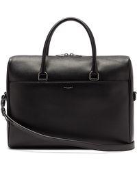 Saint Laurent Grained-leather Briefcase - Black