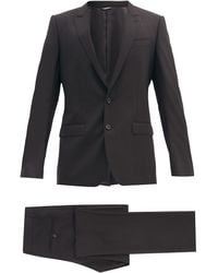 Dolce & Gabbana マティーニ バージンウール ツーピース シングルスーツ - マルチカラー