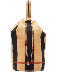 Guanabana Sac à dos tissé rayé Tula - Multicolore