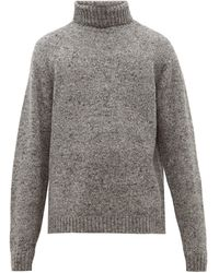 The Row Asher Camel-blend Roll-neck Jumper - Grey