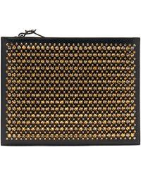 Christian Louboutin Pif Paris Studded Leather Pouch - Black