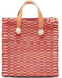 Heimat Atlantica Amor Large Tote Basket Bag - Red
