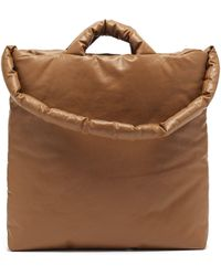 Kassl Oil Medium Padded Cotton-blend Canvas Tote - Natural