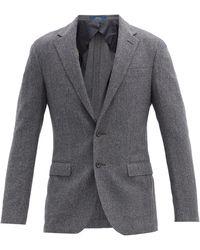 Polo Ralph Lauren ヘリンボーンウールブレンド シングルジャケット - グレー