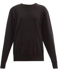 Les Tien Brushed-back Cotton Sweatshirt - Black