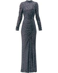Jonathan Simkhai スパンコール ハイネックドレス - ブルー