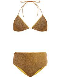 Oséree Lumière Metallic Triangle Bikini