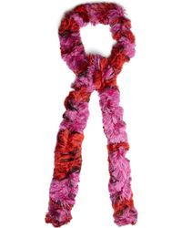 Missoni - Skinny Fine Knit Bi Colour Scarf - Lyst