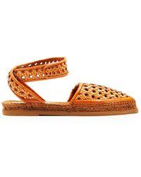 Stella McCartney - Woven-wicker Espadrille Sandals - Lyst