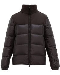 Moncler Faiveley Embossed-logo Quilted Down Coat - Black