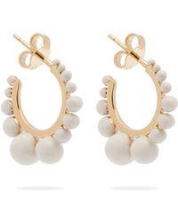 Aurelie Bidermann - Ana Gold-plated Hoop Earrings - Lyst
