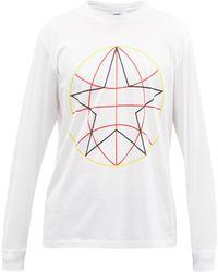 Burberry T-shirt en jersey de coton à imprimé globe Hazlett - Blanc
