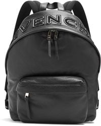 Givenchy - Loop-back Embroidered-logo Leather Backpack - Lyst