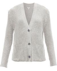Skin Wayde Ribbed Organic-cotton Blend Cardigan - Grey