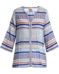 Le Sirenuse - Geometric Sea-print Cotton Shirt - Lyst