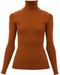 Gucci タートルネック ウールセーター - ブラウン