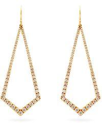 Lizzie Mandler ダイヤモンド 18kゴールドドロップピアス - マルチカラー