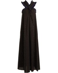 Marysia Swim - Polka-dot Crossover-front Cotton Maxi Dress - Lyst