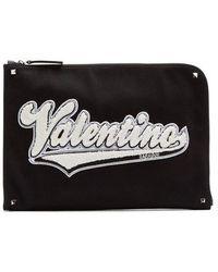 Valentino - Logo-appliqué Document Holder - Lyst