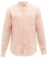 Orlebar Brown ジャイルズ リネンシャツ - オレンジ