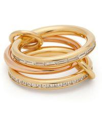 Spinelli Kilcollin - Mozi 18kt Gold, Rose Gold & Diamond Ring - Lyst