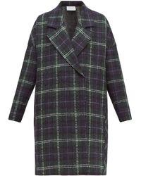 Harris Wharf London Tartan-check Pressed Virgin Wool-felt Coat - Multicolour