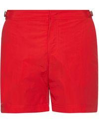 Orlebar Brown Bulldog Mid-length Swim Shorts - Red