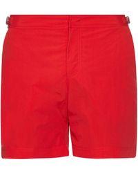Orlebar Brown Short de bain mi-long Bulldog - Rouge
