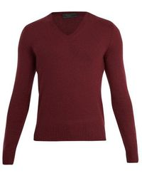 Prada - V-neck Cashmere Sweater - Lyst