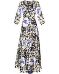 Duro Olowu - Zanzibar Flower Print Silk-satin Dress - Lyst