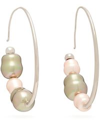 Peter Pilotto X Panconesi Beaded Silver-tone Choker Necklace - Pink