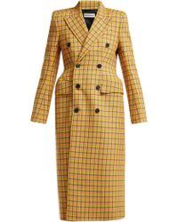 Balenciaga - Hourglass Tartan Virgin Wool Coat - Lyst