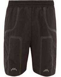 A_COLD_WALL* * Taped Logo-print Technical-shell Track Shorts - Black