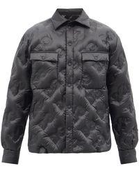 Dolce & Gabbana ロゴキルティング リップストップジャケット - ブラック
