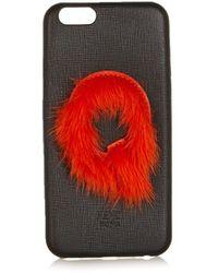 Fendi Leather Iphone® 6 Case - Black