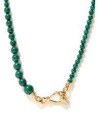 Missoma Malachite & 18kt Gold-plated Necklace - Metallic