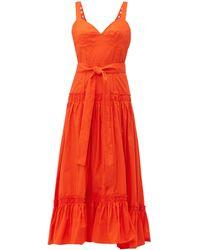 Proenza Schouler Cotton-poplin Midi Dress - Orange