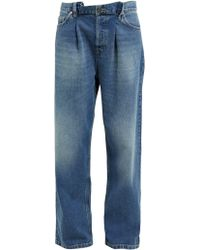 Raey Fold Dad Baggy Boyfriend Jeans - Blue