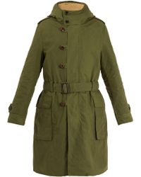 Gucci | Teddy Back Embroidered Hooded Cotton Parka Coat | Lyst
