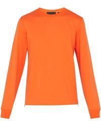Helmut Lang Sweat-shirt en coton - Orange