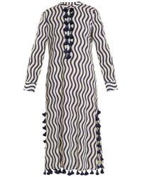 Figue - Paoline Wave-print Tassel Cotton Kaftan - Lyst