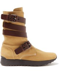 Loewe - Strappy Suede Boots - Lyst