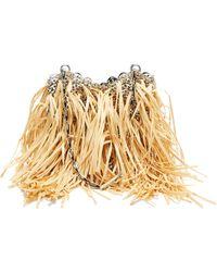 Paco Rabanne 1969 Small Raffia-fringe Chain Shoulder Bag - Multicolour