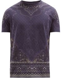 Etro ペイズリー コットンtシャツ - ブルー