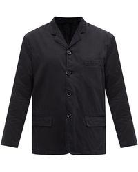 Lemaire ノッチドカラー デニムジャケット - ブラック