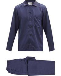 CDLP Home Suit Satin Pajamas - Blue