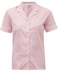 Derek Rose Ledbury 27 Geometric-print Cotton Pyjamas - Pink