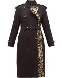 Burberry Trench-coat en coton à imprimé léopard Bridstow - Noir
