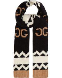 Gucci - Gg Logo Intarsia Wool Scarf - Lyst